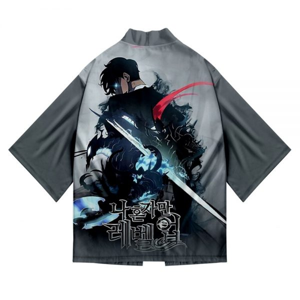Solo Leveling 3D Printing cool kimono men s Loose Short sleeve Beach top kimono men s 1 - Solo Leveling Merch Store