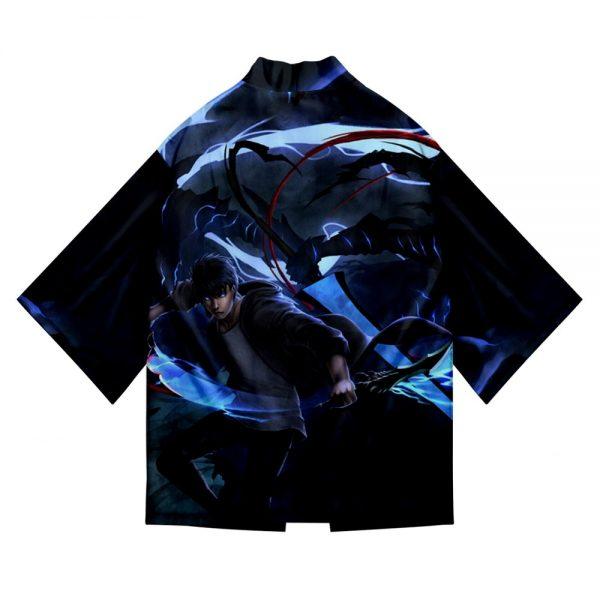 Solo Leveling 3D Printing cool kimono men s Loose Short sleeve Beach top kimono men s 5 - Solo Leveling Merch Store