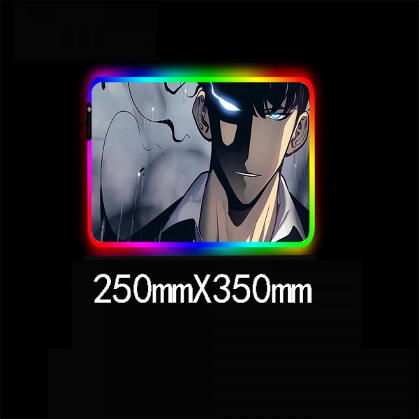 Solo Leveling Anime RGB High Quality Large Mouse Pad Laptop Anime Keyboard Pad LED USB Gaming 1 - Solo Leveling Merch Store