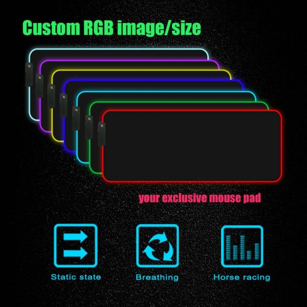 Solo Leveling Anime RGB High Quality Large Mouse Pad Laptop Anime Keyboard Pad LED USB Gaming 5 - Solo Leveling Merch Store
