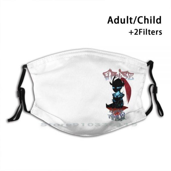 Solo Leveling Chibi Elite Knight Igris Adult Kids Washable Funny Face Mask With Filter Igris Elite - Solo Leveling Merch Store