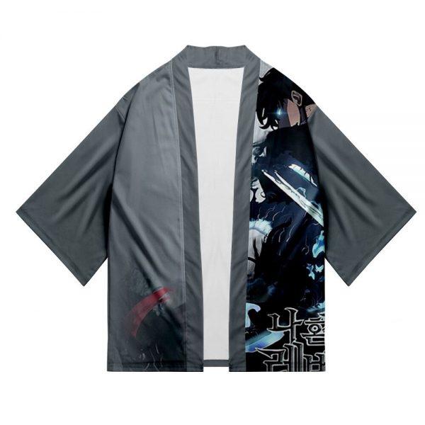 Solo Leveling Jin Woo Sung Yukata Japanese Cosplay Traditional Kimono Cardigan Harajuku Summer Haori Short Sleeve 2 - Solo Leveling Merch Store