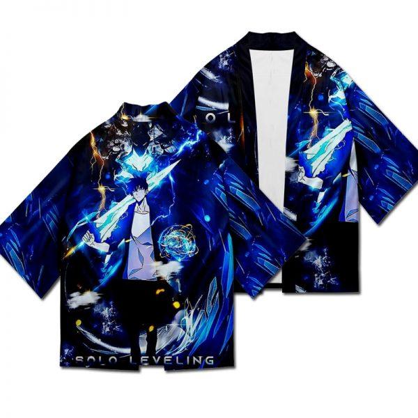 Solo Leveling Jin Woo Sung Yukata Japanese Cosplay Traditional Kimono Cardigan Harajuku Summer Haori Short Sleeve - Solo Leveling Merch Store