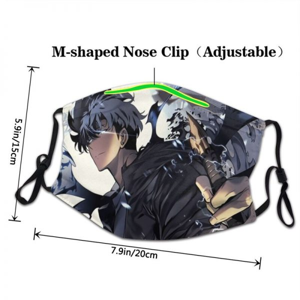 Solo Leveling Season Face Mask Adult Anti Dust Manga Mask Protection Cover Respirator Washable Mouth Muffle 2 - Solo Leveling Merch Store