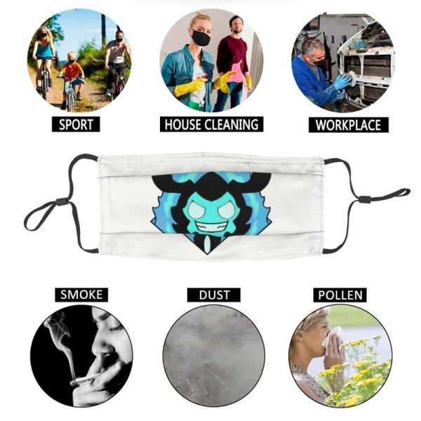 Solo Leveling Sticker Gift For Manhwa Readers Face Mask Adult Men Anti Haze Dust Mask Cover 5 - Solo Leveling Merch Store