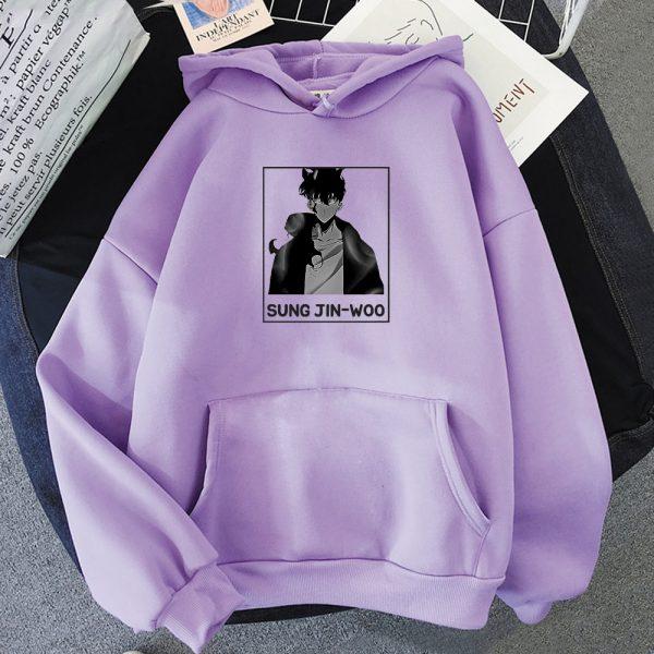 Solo Leveling Sung Jin Woo Korean Manga Hoodie Women Fashion Hoodie men Streetwear Harajuku Style Khak 3 - Solo Leveling Merch Store