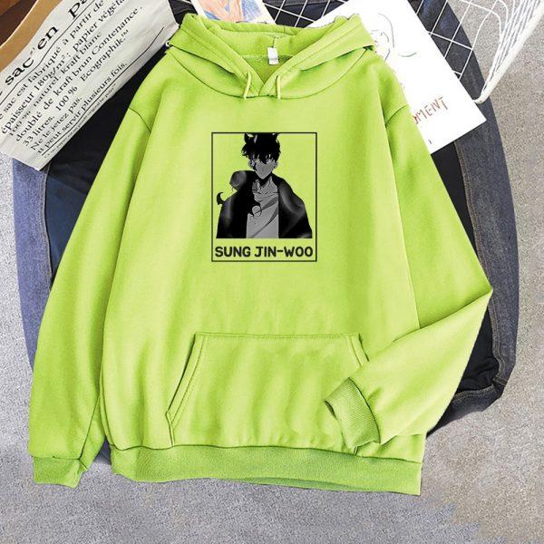 Solo Leveling Sung Jin Woo Korean Manga Hoodie Women Fashion Hoodie men Streetwear Harajuku Style Khak 5 - Solo Leveling Merch Store