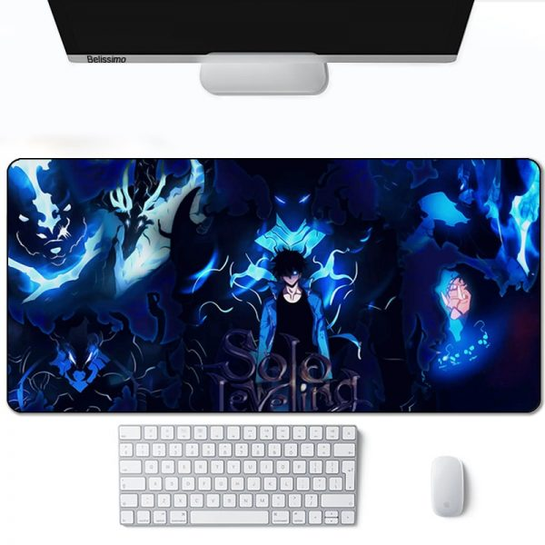 Solo leveling Mouse Pad Gamer Computer Large 900x400 XXL For Desk mat Keyboard E sports gaming 1 - Solo Leveling Merch Store