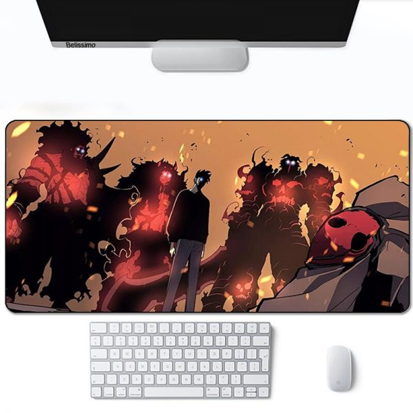 Solo leveling Mouse Pad Gamer Computer Large 900x400 XXL For Desk mat Keyboard E sports gaming 2 - Solo Leveling Merch Store