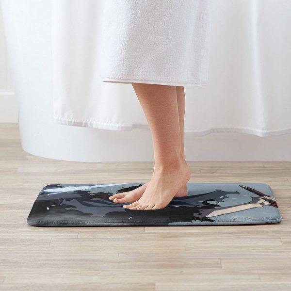 Sung Jin Woo Solo Leveling Manhwa Mat Rug Carpet Anti Slip Floor Mats Bedroom Anime Manga 1 - Solo Leveling Merch Store