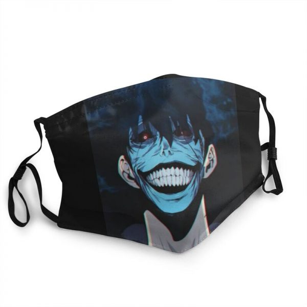 The Smiley Face Sung Jin Woo Mask Anti Dust Reusable Solo Leveling Face Mask Protection Cover - Solo Leveling Merch Store