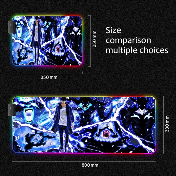 XGZ Solo Leveling Gamer RGB Mouse Pad Laptop Gaming Keyboard Locked Office Desk LED Gaming Accessories 2 - Solo Leveling Merch Store