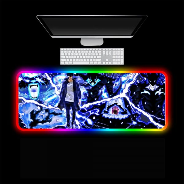 XGZ Solo Leveling Gamer RGB Mouse Pad Laptop Gaming Keyboard Locked Office Desk LED Gaming Accessories 3 - Solo Leveling Merch Store