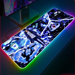 XGZ Solo Leveling Gamer RGB Mouse Pad Laptop Gaming Keyboard Locked Office Desk LED Gaming Accessories - Solo Leveling Merch Store