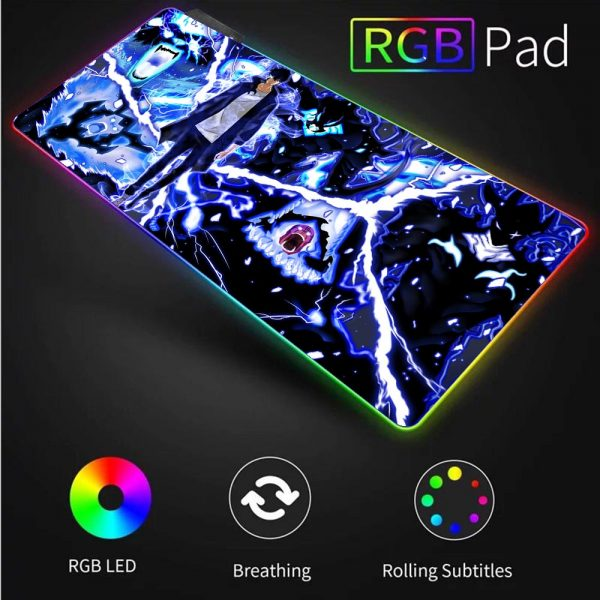 XGZ Solo Leveling Gamer RGB Mouse Pad Laptop Gaming Keyboard Locked Office Desk LED Gaming Accessories 4 - Solo Leveling Merch Store